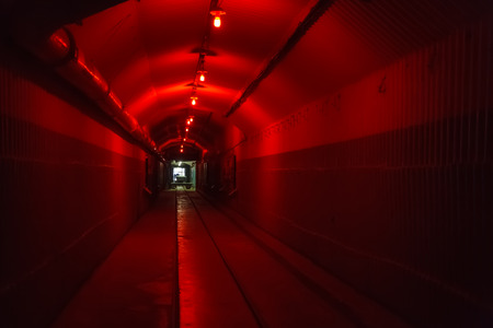 Bunker from Cold War, object an underground submarine base