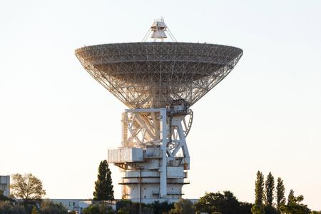 bandwidth: huge white satellite antenna