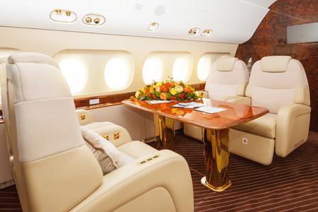 comfortable: Luxury interior aircraft business aviation