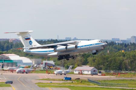 Moscow, Russia - 12 August, 2017 Soviet cargo plane il-76 Sajtókép