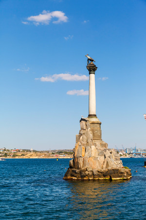Monument to the scuttled ships on a Sunny day. Sevastopol, Crimea