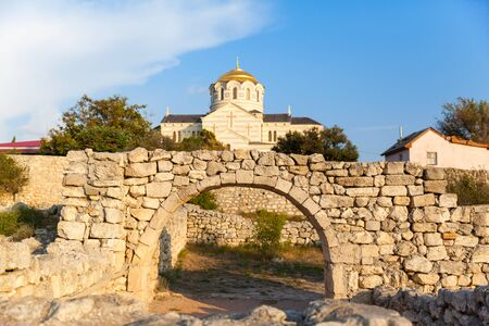 St. Vladimirs ancient Cathedral in Chersonese, Sevastopol, Crimea Russia