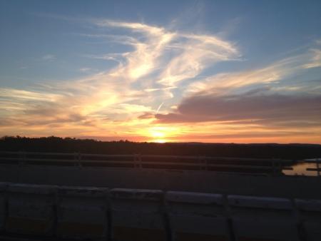 A beautiful watercolor sunset