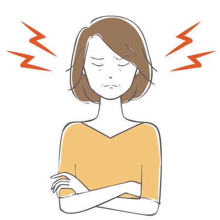 Illustration of a frustrated woman Ilustração