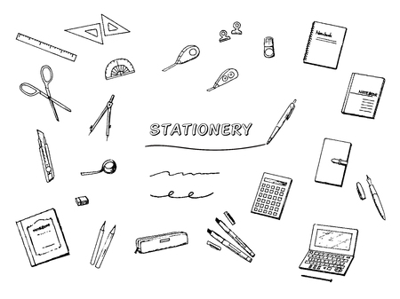 Stationery pen sketch set