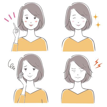 Middle age women variations Ilustração