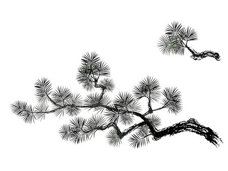 Vector illustration of pain tree