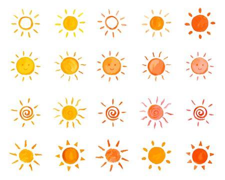 Solar Illustration Set  イラスト・ベクター素材