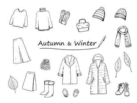 Autumn/Winter Clothing Icon Set