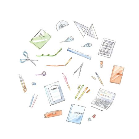 Stationery Watercolor Illustrations