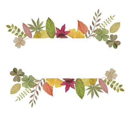 Autumn leaf decoration