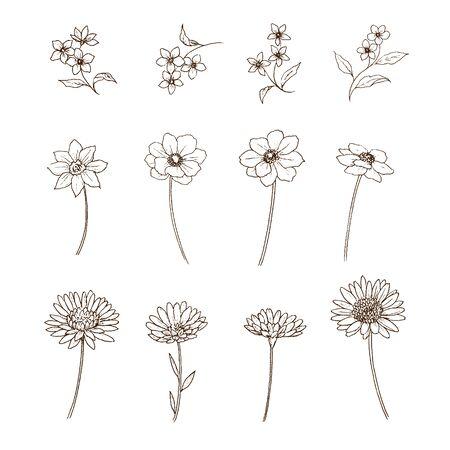 Flower Pen Drawing Set
