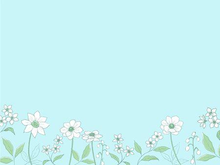 Line Art Flower Background
