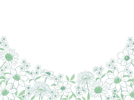 Line Art Flower Background