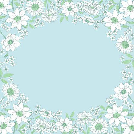 Line Art Flower Frame
