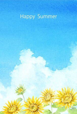 Sunflower postcard template