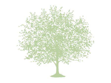 Tree Silhouette Vector Illustration