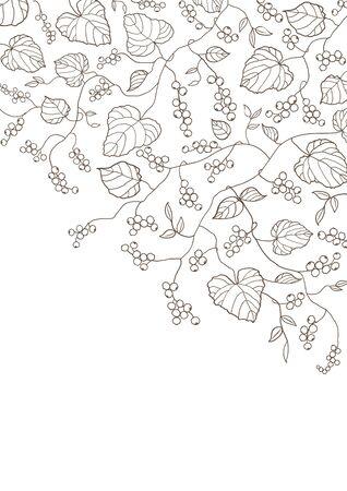 Berry line art  イラスト・ベクター素材