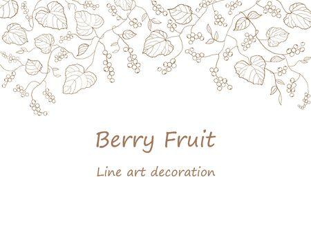 Berry line art.