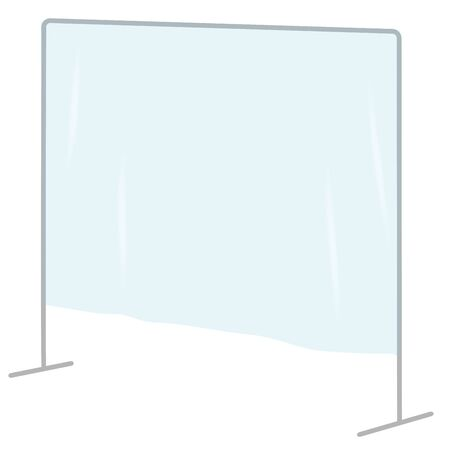 vector of vinyl curtain.