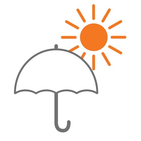 vector of parasol and sun.