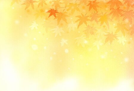 Watercolor background illustration of autumn leaves 写真素材