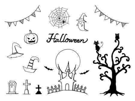 Halloween pen drawing set.