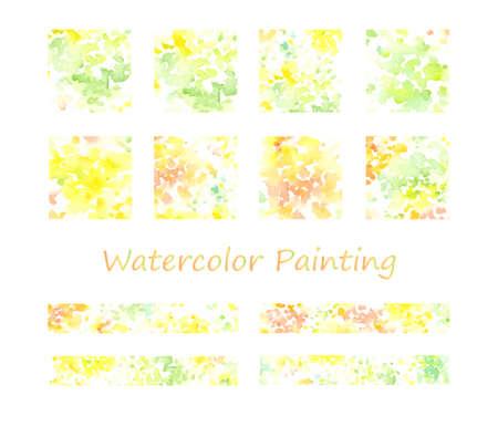Watercolor Paint Icon Set