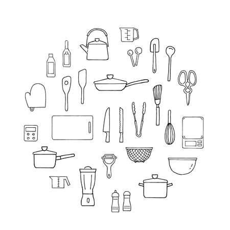 Kitchen Icon Circle Design Vettoriali