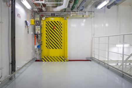 watertight: Watertight door on a ship Stock Photo