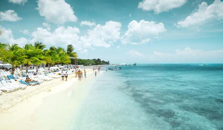 cozumel: Beautiful sandy beach on Cozumel island, Mexico