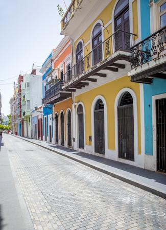 puerto rico: Street in old San Juan, Puerto Rico