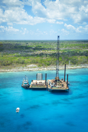 spoiling: Drill on the sea near Cozumel, Mexico