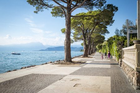Promenade at Garda Lake in Italy