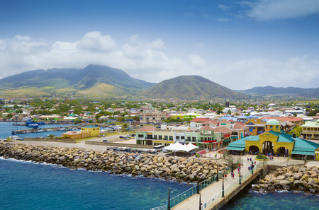 caribbeans: Port Zante in Basseterre town, St. Kitts And Nevis