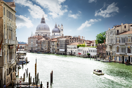 grand canal: Grand Canal in Venice, Italy Stock Photo