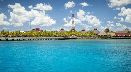 Port of Cozumel Island in Puerta Maya, Quintana Roo, Mexico