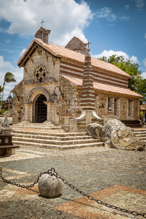 romana: Church in Altos de Chavon, La Romana, Dominican Republic