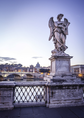 pons: Sculpture of angel on Pons Aelius Bridge