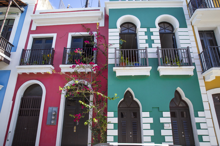 Colorful homes in old San Juan, Puerto Rico