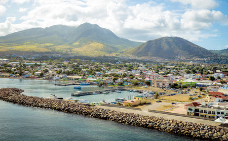 saint: Port Zante on St. Kitts island
