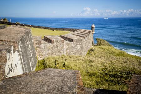 puerto: Fort in old San Juan, Puerto Rico Stock Photo