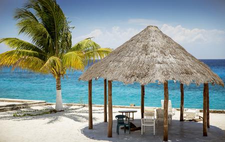 Sandy beach on Cozumel Island, Quintana Roo, Mexico