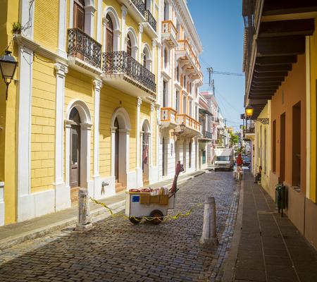 puerto rico: Street in Old San Juan, Puerto Rico Editorial