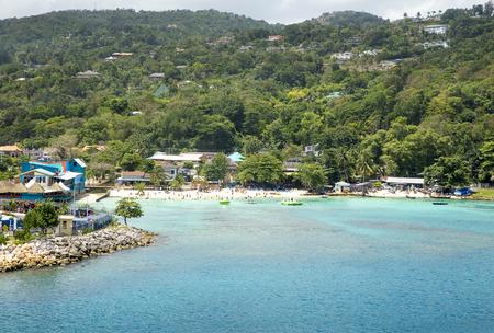 Beautiful coast of Ocho Rios, Jamaica