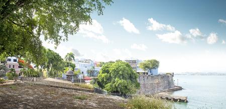 puerto rico: San Juan, Puerto Rico coast at Paseo de la Princesa