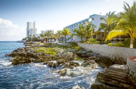 Costa de la isla de Cozumel, Quintana Roo, México Foto de archivo - 62473534