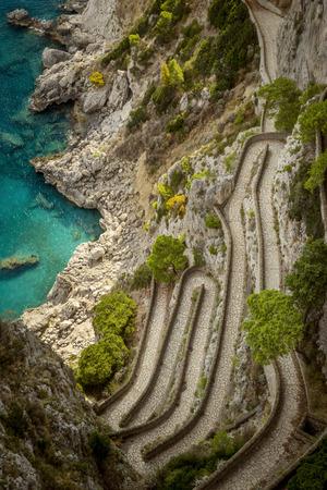 via: Via Krupp on Capri island in Italy