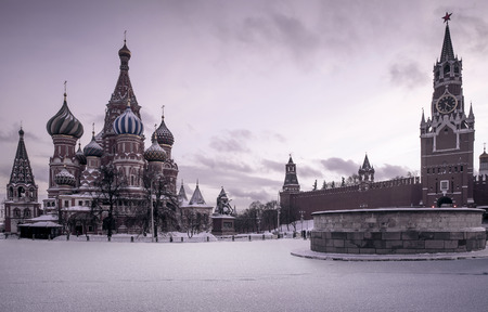 Saint Basils Cathedral on Red Square in Moscow, Russia Stock Photo