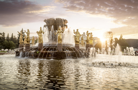 nation: Fountain of nation friendship in VDNH, Moscow, Russia